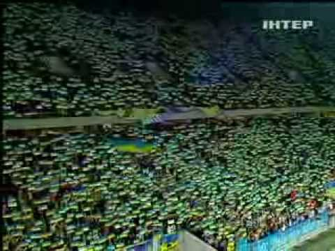 Гімн України на стадіоні